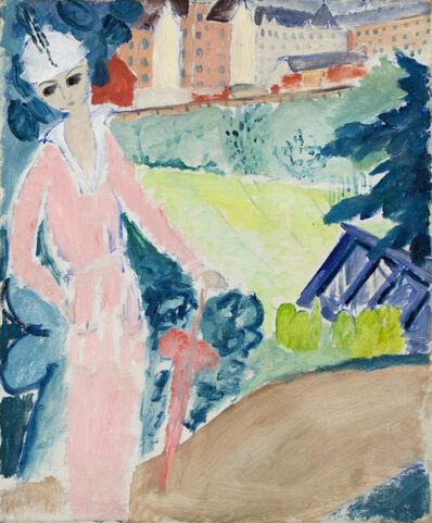 Sigrid Maria Hjertén, 'Promenad i rosa (Pink promenade)', 1914