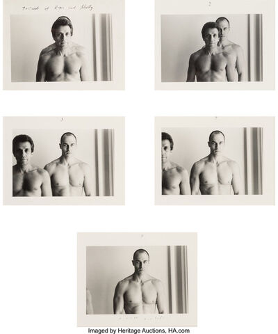 Duane Michals, 'Portrait of Roger and Shelley (series of five photographs)', circa 1979