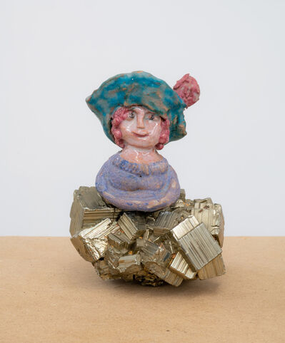 Beatrice Wood, 'Lady with Hat on Stone', 1960
