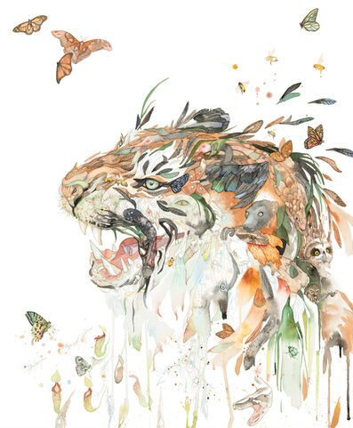 Laura Ball, 'Tiger Creature (Caspian, CR)', 2020