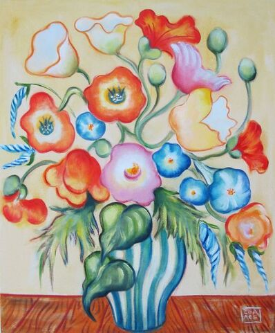 Zoa Ace, 'Poppies with Morning Glories', 2020