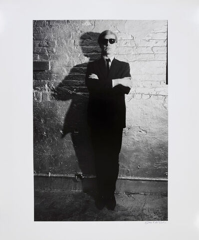 David McCabe, 'Andy Warhol Against Factory Wall, New York', 1965