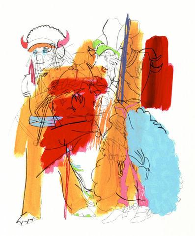 Ghada Amer, 'The Cowboy', 2002