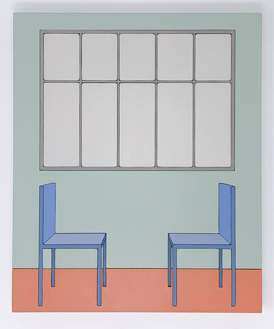 Zsofia Schweger, 'Form Becoming Feeling #2 (Two Chairs), after Frank Lloyd Wright engagement with Froebel's Kindergarten ', 2019
