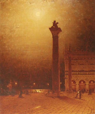 Sanford Robinson Gifford, 'The Column of St. Mark, Venice, Moonlight', 1870