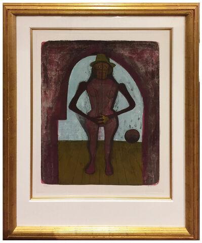 Rufino Tamayo, 'Femme au Collant Rose', 1969