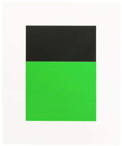 """Ellsworth Kelly, 'Black/Green II, from """"Series of Ten Lithographs""""', 1970"""