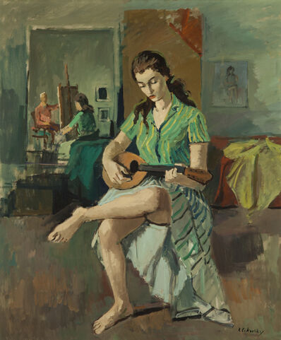 Nicolai Cikovsky, 'Girl with Mandolin', 1933-1987