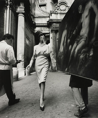 William Klein, 'Simone + Painting + Coffee, Rome', 1960