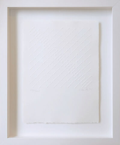 Günther Uecker, 'Diagonale Reihung', 1975