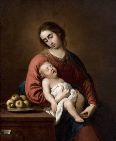 Francisco de Zurbarán, 'Virgin with sleeping child'