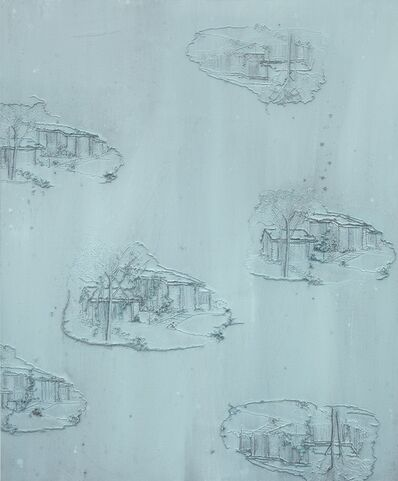 Michael Raedecker, 'gravity', 2013