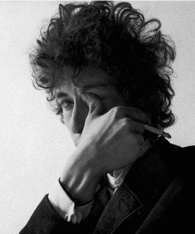 Jerry Schatzberg, 'Bob Dylan, Thumb in Eye', 1965