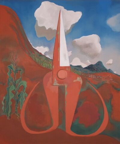 Mao Xuhui 毛旭辉, 'Dreaming of the Red Earth: Upright Scissors', 2010