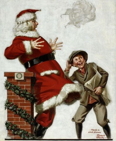 Frederic Stanley, 'Santa in the Wind', 1921