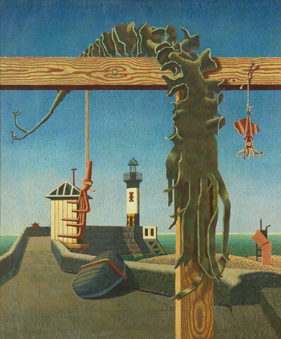 Edward Wadsworth, 'Quiet Outlook / Seaweed & Lighthouse', 1942