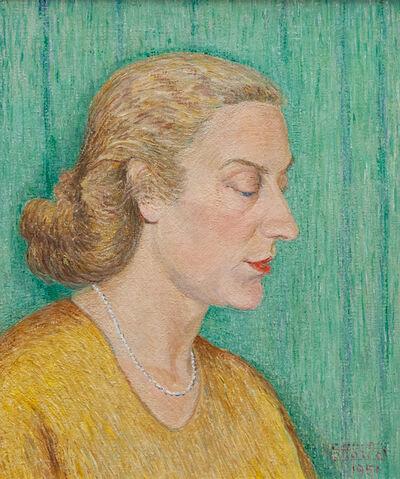 Gottardo Segantini, 'Bildnis einer Dame im Profil', 1958