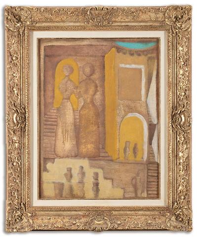Massimo Campigli, 'Amies aux vases à la fontaine', 1918