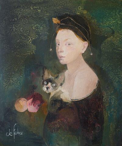 Françoise de Felice, 'La fille au chat (The girl with the cat)', 2019