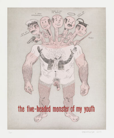 Anton Kannemeyer, 'The 5 Headed Monster of my Youth', 2008
