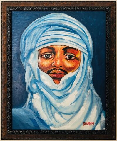 Elha Moumi, 'Bedouin in Blue', 2000