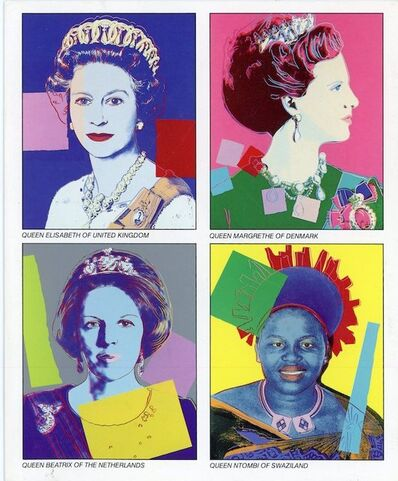 Andy Warhol, 'Castelli Uptown, Andy Warhol, Reigning Queens 1985, Folded Card', 1985