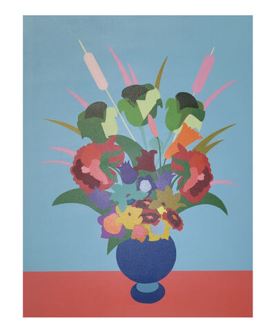 Jason Pulgarin, 'Flowers for the Rich ( Blue )', 2019