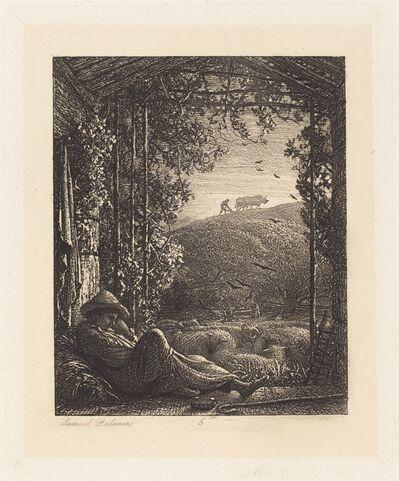 Samuel Palmer, 'The Sleeping Shepherd; Early Morning', 1857