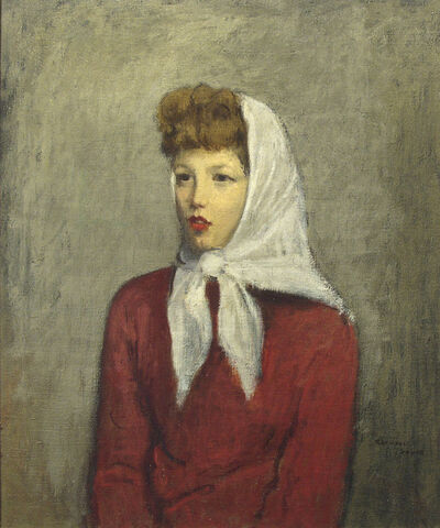 Raphael Soyer, 'Woman with Scarf', ca. 1942