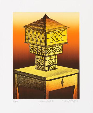 Titus Schade, 'Goldenes Fachwerk', 2017