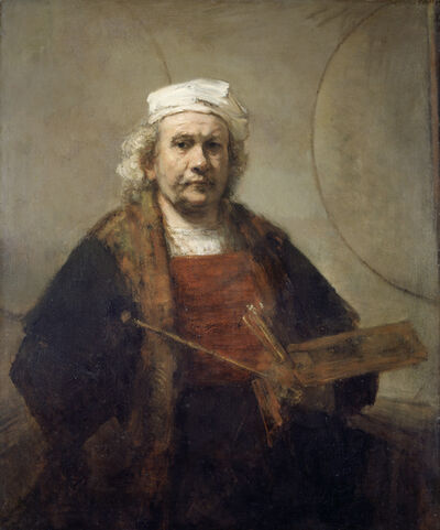 Rembrandt van Rijn, 'Self Portrait with Two Circles', 1665-1669