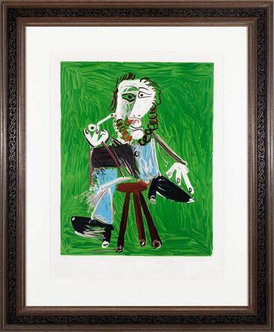 Pablo Picasso, 'Homme a la pipe assise sur un tabouret', 1969; 1979-82
