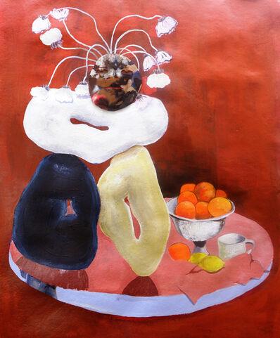 Nkechi Ebubedike, 'Head on Girdled Stone Rings (Red)', 2020