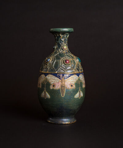 Amphora, 'Jeweled Moth & Bees Semiramis Vase', ca. 1904
