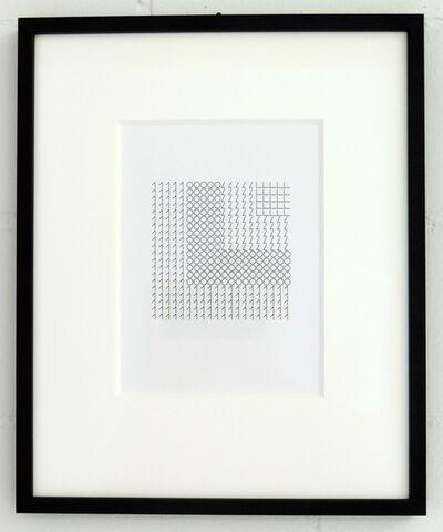 Vera Molnar, '1.0 L. L.', 2015