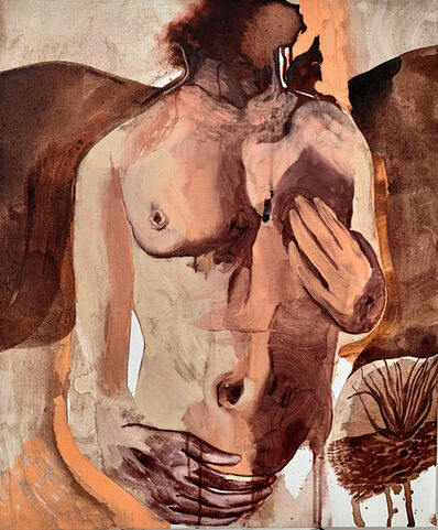 Matteo Benetazzo, 'Nude on pink landscape', 2019