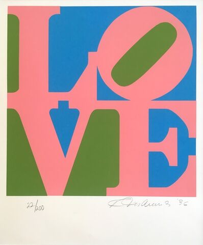 Robert Indiana, 'The Book of Love (pink)', 1996