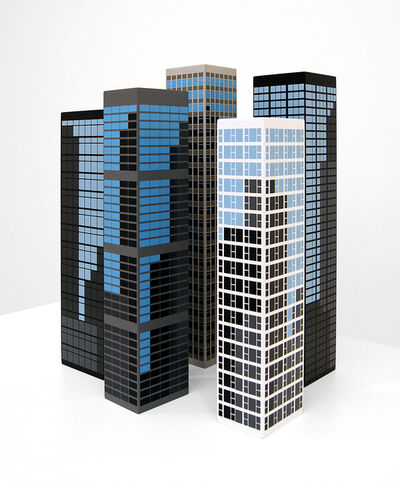 Julian Opie, 'Modern Towers 2.', 2017
