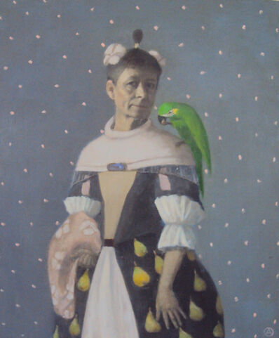Olga Antonova, 'Self Portrait with Parrot', 4200