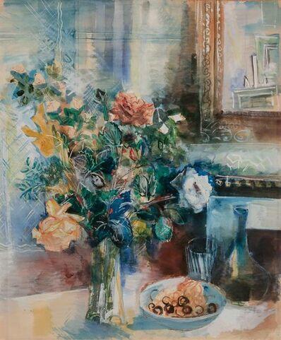 Jean Dufy, 'Coupe de Fruits et Bouquet de Fleurs a L'atelier', 1924