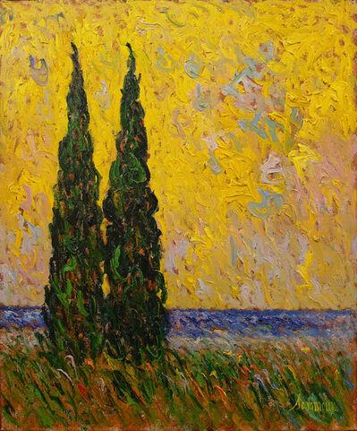 Samir Sammoun, 'Cyprès et soleil II', 2020