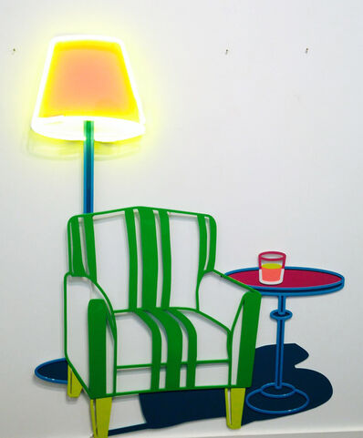 Joanna Lamb, 'Armchair with table and lamp', 2013