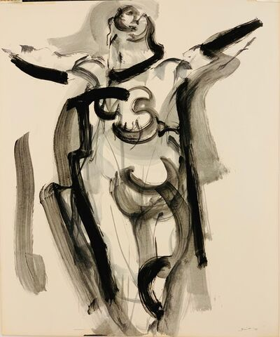 Walter Quirt, 'Untitled (Figure with Outstretched Arms', 1958