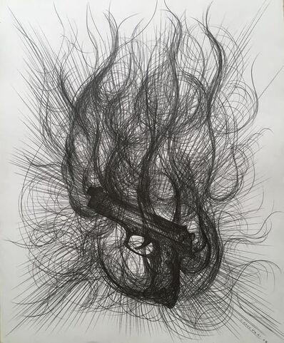Paolo Canevari, 'Burning Gun', 2008