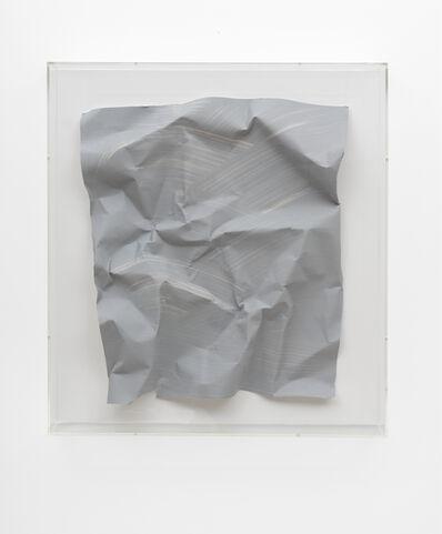 Özcan Kaplan, 'Papierarbeit (kiesgrau) #2, April 2018', 2018