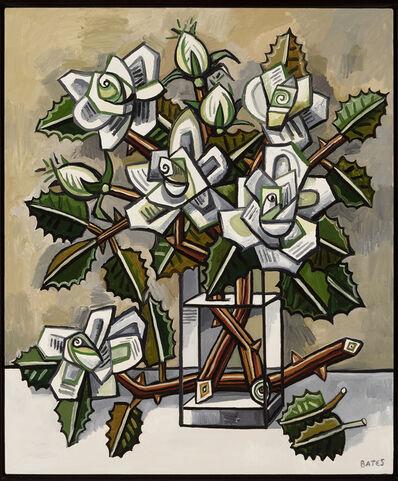 David Bates, 'White Roses', 2017