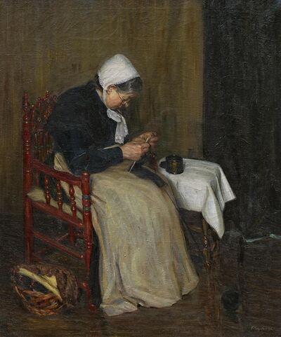 Kurt Schwitters, 'Strickende Alte', 1915