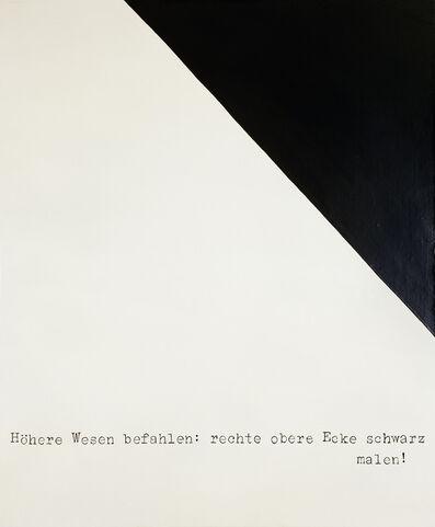 Sigmar Polke, 'Höhere Wesen befahlen: rechte obere Ecke schwarz malen!', 1969