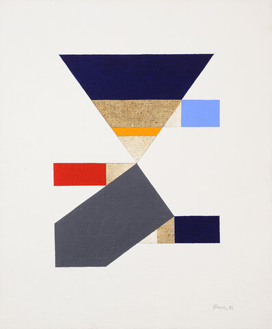 George Johnson, 'Untitled (Study for Red Triangle Paintings)', 1985