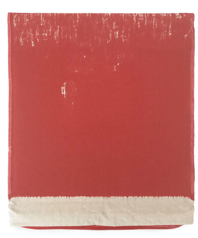 Analía Saban, 'Pressed Paint (Cadmium Red)', 2017